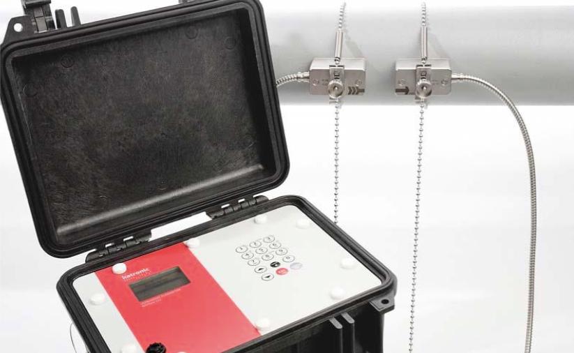 KATflow 210 - portable ultrasonic flowmeter in case | Ultrasonic Flow Management