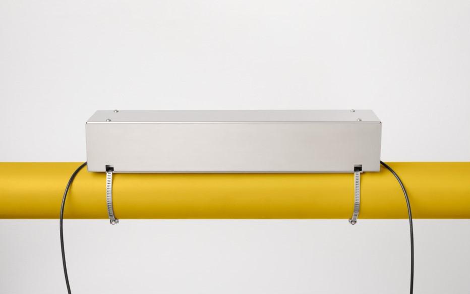KATflow 180 G - ultrasone gas flowmeter - montage rail beschermkap | U-F-M b.v.