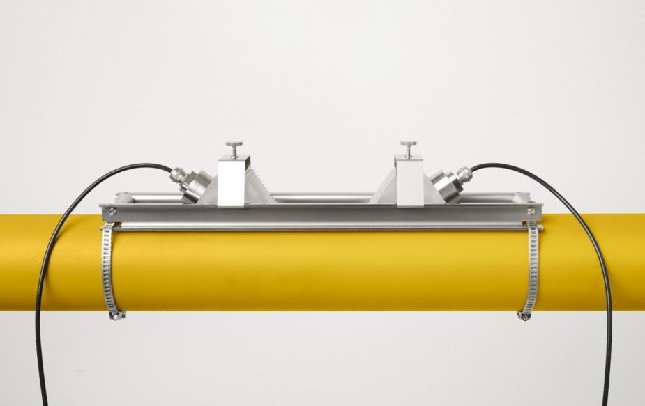 KATflow 180 G - ultrasone gas flowmeter - sensoren montage rail | U-F-M b.v.