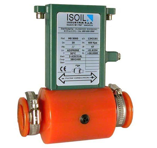MS 5000 gepatenteerde plastic wrapper sensor - elektromagnetische flowmeters   U-F-M b.v.