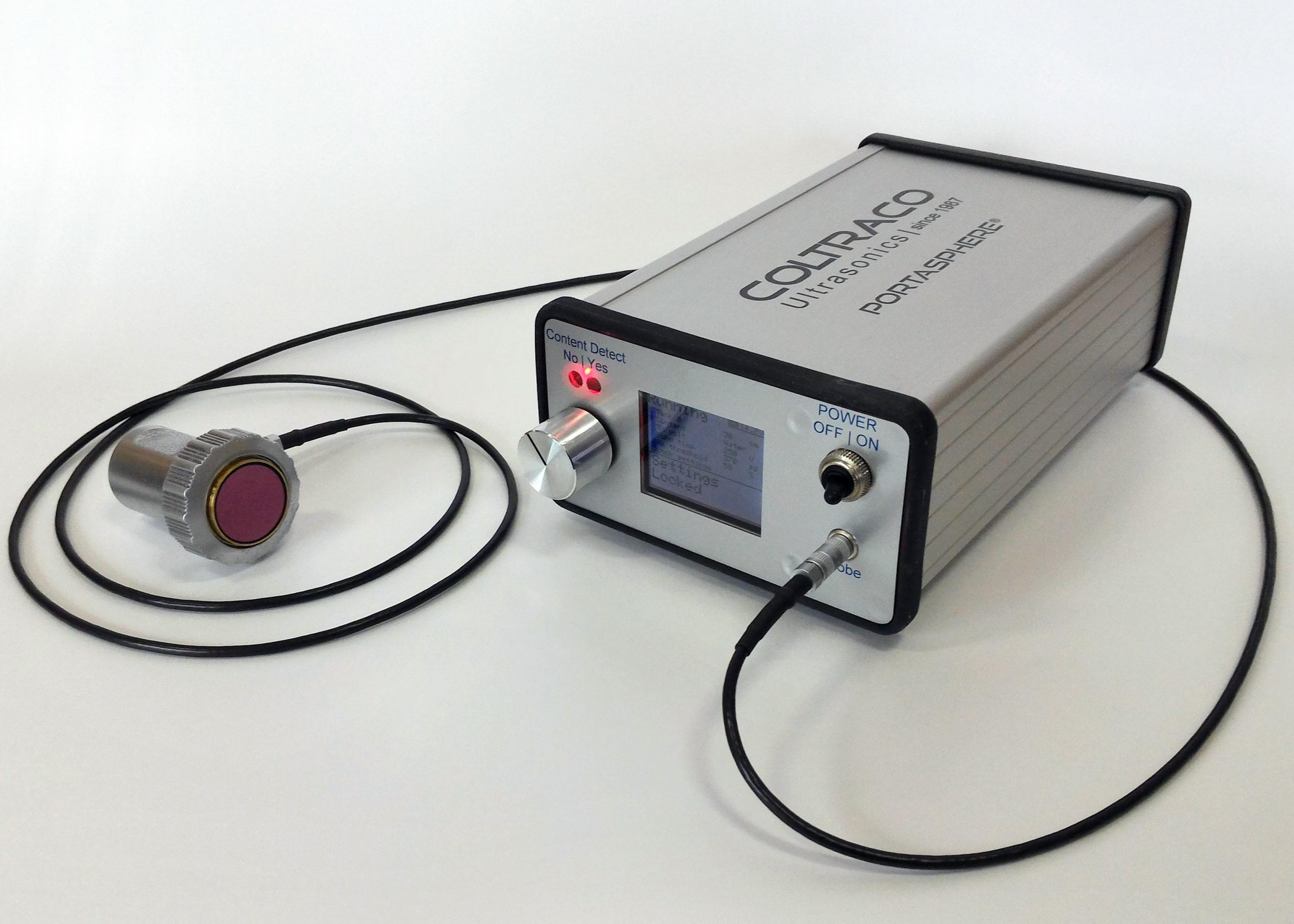 Portasphere - ultrasone niveau indicator blusmiddelen | Coltraco | U-F-M b.v.
