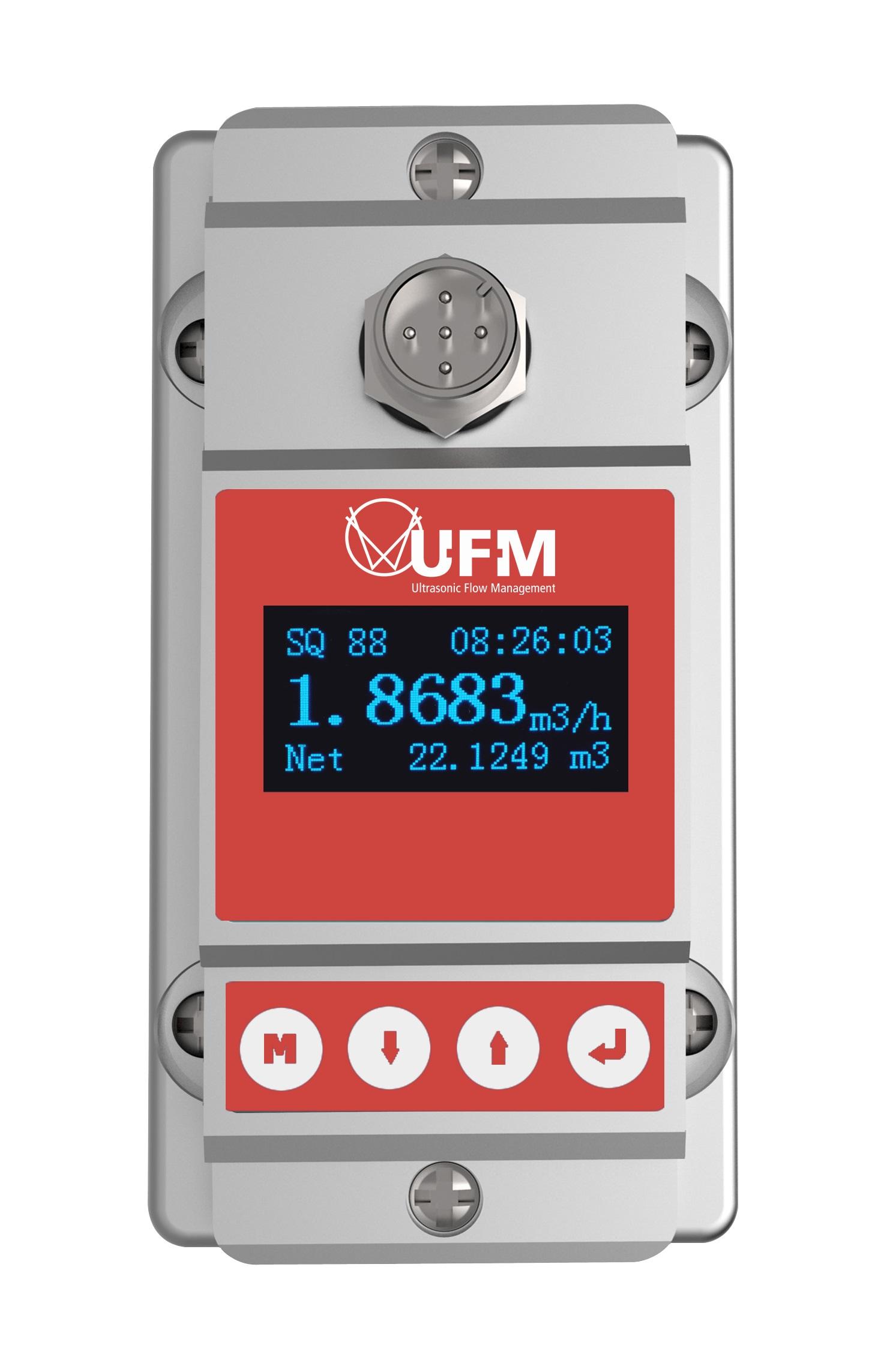 UFM-3015 ultrasone flow watch voor vaste installatie