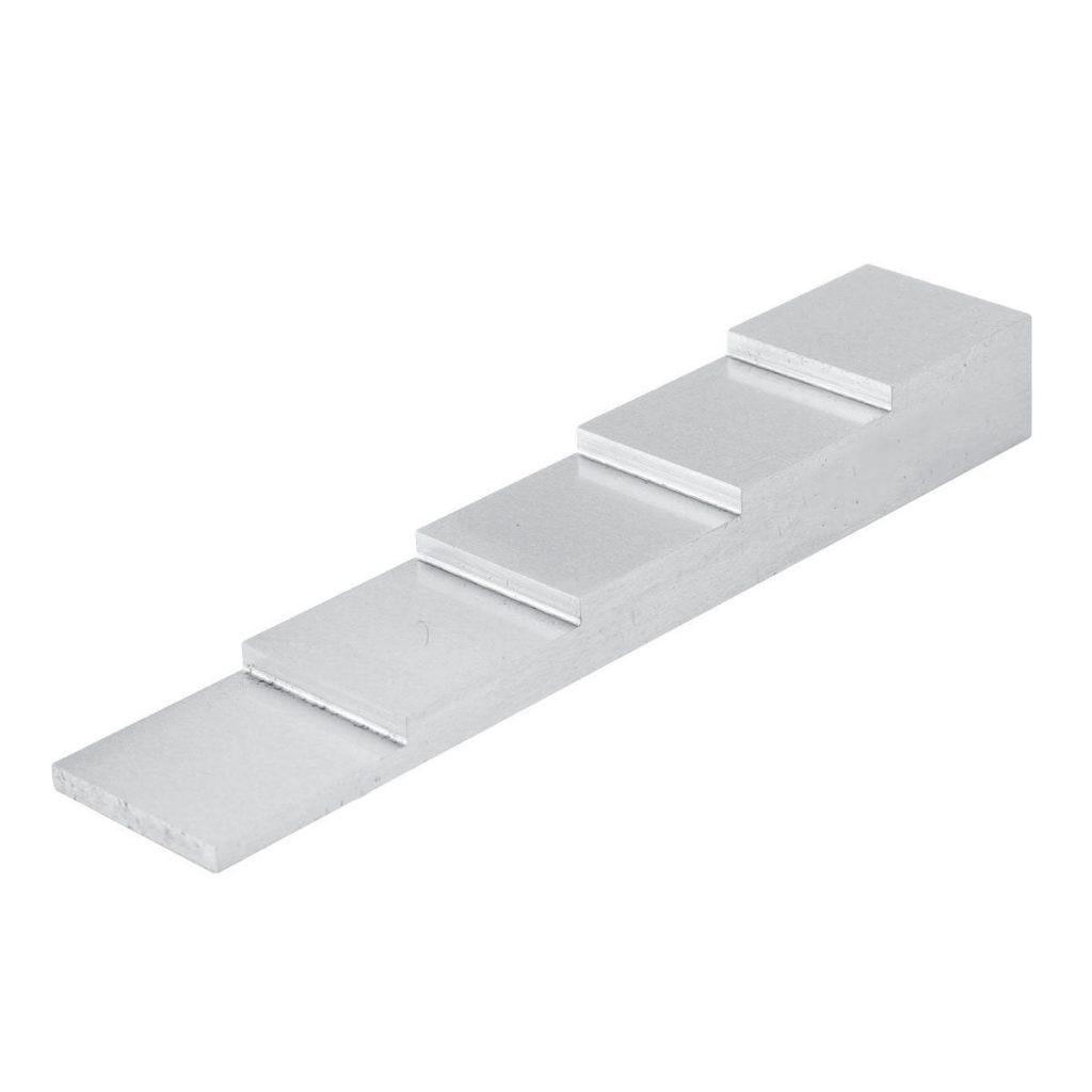 Kalibratieblok - 5 staps / trede - 5-25mm - staal | U-F-M bv